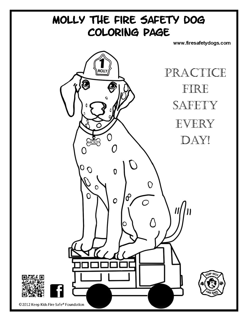 childrens fire safety coloring pages - photo#16