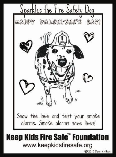 Coloring Page Right Click On The Sparkles Fire Safety Dog To Save Your Computer Then Print Very Own